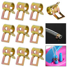 10Pcs 5mm Spring Clip Fuel Line Hose Water Pipe Air Tube Clamps Fastener