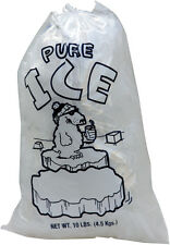 Plastic Ice Bags Pure 10 Lbs with Drawstring Closure  - 500 Bags/case