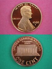 1980-S Proof Lincoln Memorial Cent Penny Deep Cameo Flat Rate Shipping