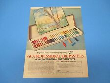 1972 60 Professional Oil Pastels Dustless Palm Co Miami FL Color Print Ad PA010