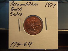 CANADA ONE CENT 1979 Accumulations both side MS-++++!!!! Full Red