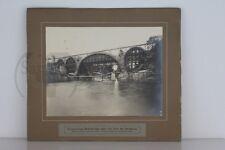 altes org. Foto  Eisenbahnbrücke von Kempten über die Iller 1904 im Bau