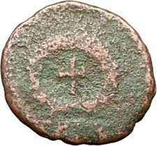 THEODOSIUS II 425AD Authentic Ancient Roman Coin CROSS within wreath  i28020