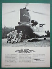 6/65 PUB BOEING HELICOPTERS VERTOL CH-47A CHINOOK US ARMY HOWITZER ARTILLERY AD
