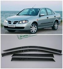 For Nissan Almera N16 Sd 2000-2006 Window Visors Sun Rain Guard Vent Deflectors