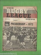 #QQ. THE RUGBY LEAGUE NEWS,  15-16th July 1972, Australia vs New Zealand Cover
