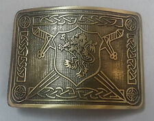 Men's sautoir lion rampant kilt boucle de ceinture antique/highland kilt belt buckles