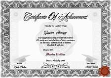 Certificate Of Achievement  A4  ( Novelty )