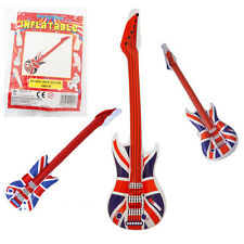 106CM Union Jack Inflatable Guitar Kids Party Fun Blow Up Toy GB Stylish Unisex