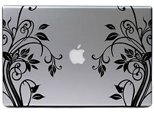 "Apple MacBook Air Pro 13"" Schnörkel Blume Ranke Aufkleber Sticker Skin Decal 281"