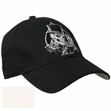 Top Hat Spade Skull Biker Motorcycle Bobber Cruiser Embroidered Baseball Cap
