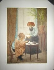 Original Manuel Robbe Color Etching, Signed