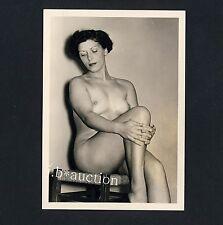 #24 RÖSSLER AKTFOTO 13 x 9 NUDE WOMAN STUDY * Vintage 50s Studio Photo - no PC