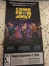Come From Away Rare Ad Pre Broadway Fords Theatre DC - Chad Kimball