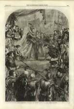 1861 Queen Elizabeth Knighting Sir Francis Drake, Artwork By John Gilbert