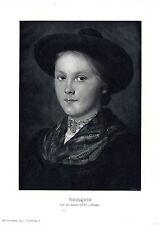 Österreichischer Maler Franz Defregger Tirolerin Historischer Kunstdruck von1903