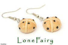 Polymer Clay Hot Cross Bun Silver Plated Food Earrings Easter Jewellery