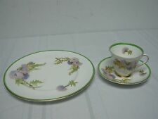 ROYAL DOULTON GLAMIS THISTLE TEA CUP & SAUCER with DINNER PLATE SIGNED P CURNOCK