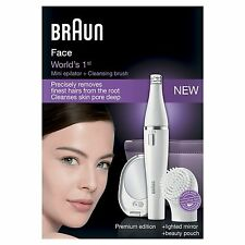 BRAUN FACE 830 PREMIUM EDITION - FACIAL EPILATOR & FACIAL CLEANSING BRUSH SE830