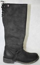 Roxy Rider J Black Women Round Toe Synthetic Knee High Boot Size 7