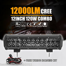 "4D+ 5W Cree 120W 12inch F / S Combo LED Work Light Bar Offroad Vs Osram 14"" 168W"
