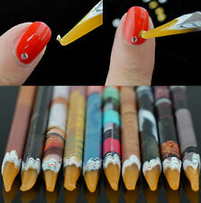Gem Crystal Rhinestones Picker Pencil Nail Art Craft Tool Wax Pen