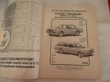 REVUE TECHNIQUE FORD TAUNUS - 2 PORTES - 4 PORTES ET BREAK
