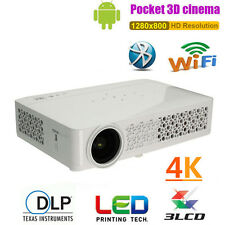 6000 Lumens DLP Wifi Android Full HD 1080p 3D 4K HDMI AV Home Theater Projector
