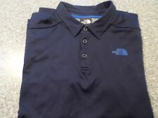 MENS THE NORTH FACE SOLID BLUE POLYESTER BLEND SHORT SLEEVE POLO / GOLF SHIRT:XL