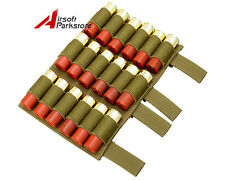 Tactical Molle 18 Rounds Shotgun Shell 12GA Gauge Ammo Holder Pouch Carrier Tan