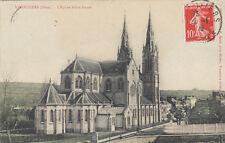 VIMOUTIERS l'église notre-dame photo-éd bunel timbrée 1909