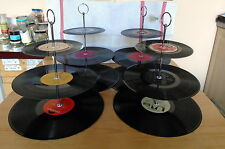 Vinyl record 3 Tier cake stand - PARTY PACK of 4