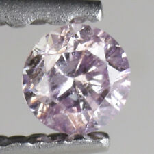 0.06Ct Sparky NATURAL COLOR Purple Pink Round Natural Diamond