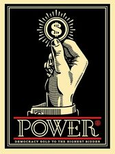 Shepard Fairey Print Power Bidder Signed And Numbered