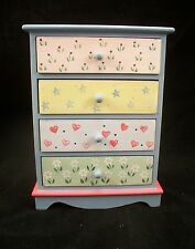 Painted Tall Dresser EWDP2146 Fashion Doll dollhouse furniture 1/6 & 1/8 Scale