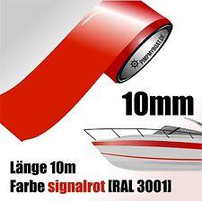 ZIERSTREIFEN 10m SIGNALROT 10mm Auto Boot Jetski Modellbau Vinyl Dekorstreifen