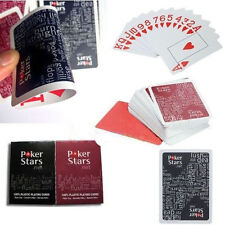 Jumbo Index PokerStar 100% PLASTIC Deck Playing Cards Poker Standard Casino Size