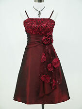 Cherlone Red Prom Ball Evening Wedding Bridesmaid Formal Gown Dress Size 14-16
