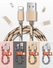 4x Braided Lightning Charger Cable Data Sync Charge Cord for Apple iPhone 5 6 7