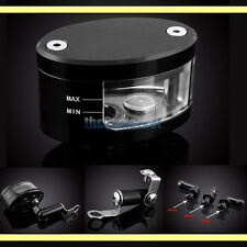 Black CNC Universal Brake Reservoir Oil Cup for Triumph Speed/Street/Triple