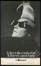 1985 John Sex photo L.A. Eyeworks sunglasses BIG vintage print ad