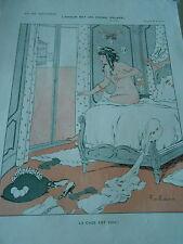 L'amour est un oiseau Volage La Cage est vide Girl Nude Print Art Déco 1911