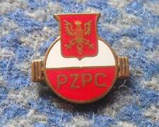 WEIGHTLIFTING POLAND FEDERATION 1970's GOLD SMALLER VERSION ENAMEL PIN BADGE