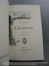 Marc Histoire de Chenove 1893 réédition numéroté de 1996 dijon bourgogne