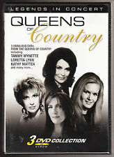 QUEENS OF COUNTRY - LEGENDS IN CONCERT- LORETTA LYNN - NEW SEALED 3 DISC DVD SET