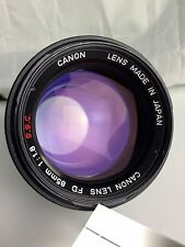 Canon FD Mount 85mm f1.8 SSC Version Lens.