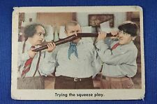 1959 Fleer - 3 Stooges - #96 Trying The Squeeze Play - Last Card In Set - Good