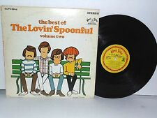 LOVIN' SPOONFUL Best of Volume Two Vinyl LP 1968 Kama Sutra Folk Rock Plays Well