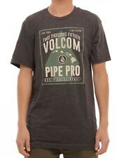 NEW VOLCOM STONE SURF VPP POSTER HEATHER BLACK MEDIUM M TEE SHIRT #X112