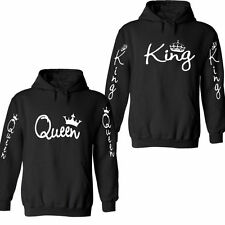 KING AND QUEEN HOODIES VALENTINE NEW MULTI COLORS MATCHING CUTE LOVE COUPLES PZ